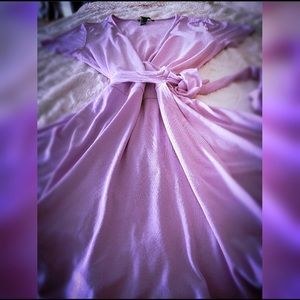 Forever 21 lavender faux wrap romper